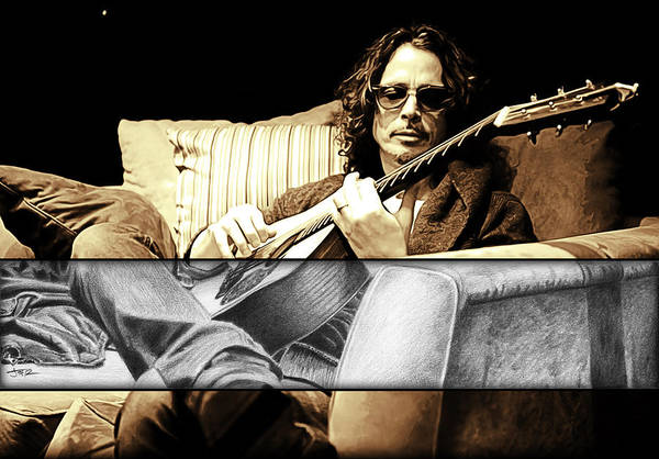 Wall Art - Drawing - Chris Cornell Drawing by Jeffrey St Romain