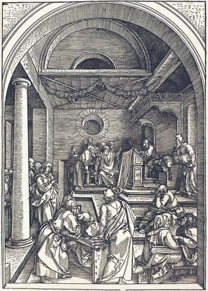 Digital Art - Christ Among The Doctors by Albrecht Durer