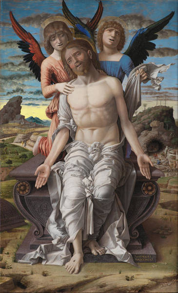 Redeemer Wall Art - Painting - Christ As The Suffering Redeemer by Mountain Dreams