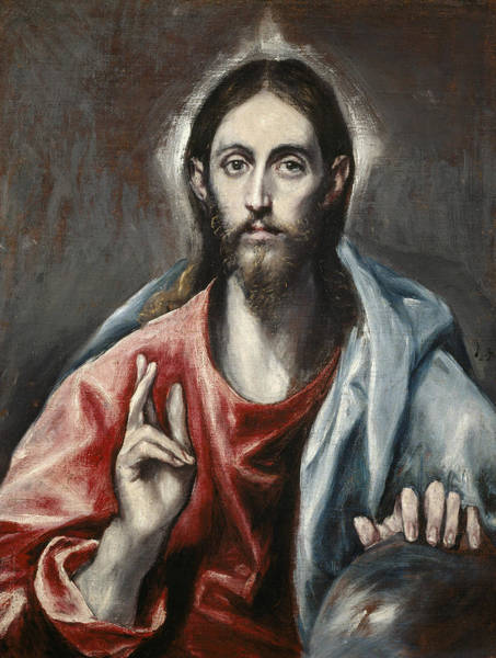 Painting - Christ Blessing by El Greco