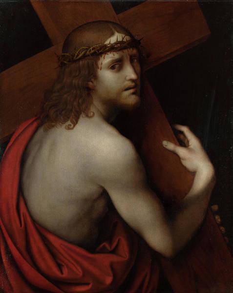 Golgotha Painting - Christ Carrying His Cross by Giampietrino