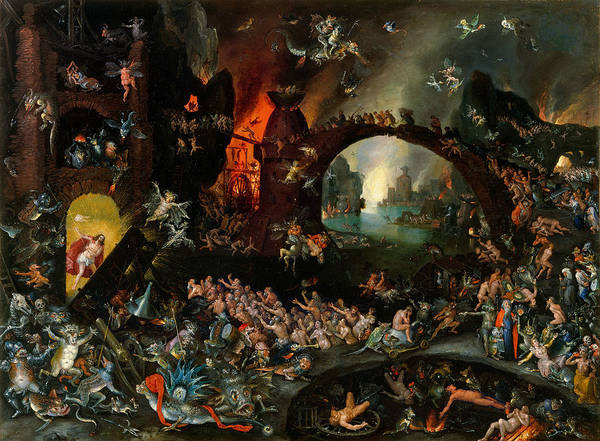 The Elder Painting - Christ In Limbo by Jan Brueghel the Elder