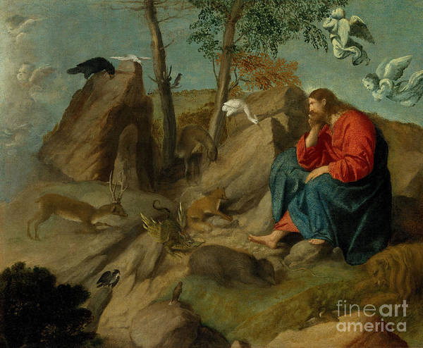 Wall Art - Painting - Christ In The Wilderness by Moretto da Brescia