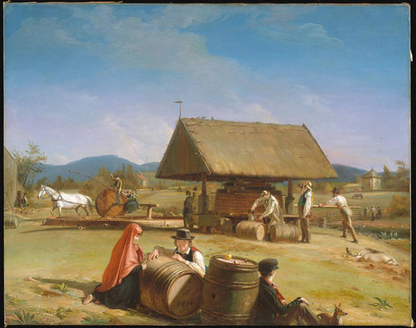 Wall Art - Painting - Cider Making by William Sidney Mount