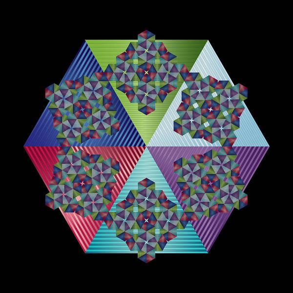 Digital Art - Circularity No 1616 by Alan Bennington
