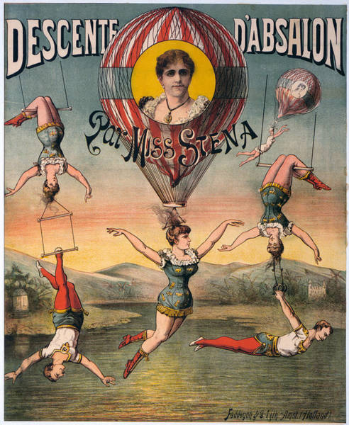 Trapeze Photograph - Circus Poster, C1890 by Granger