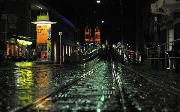 Night Digital Art - City by Maye Loeser