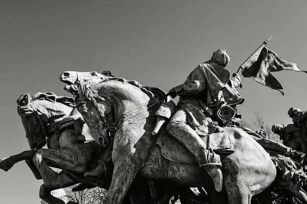 Photograph - Civil War Statue by Brandon Bourdages