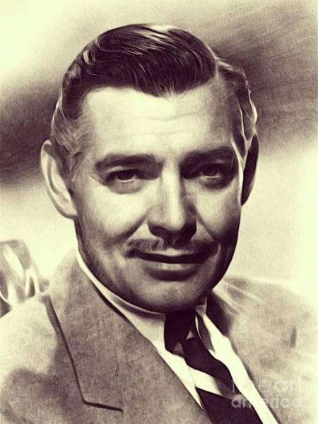 Clark Gable Wall Art - Drawing - Clark Gable, Actor by John Springfield