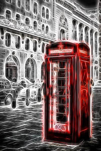 Photograph - Neon Red London Telephone Box by John Williams
