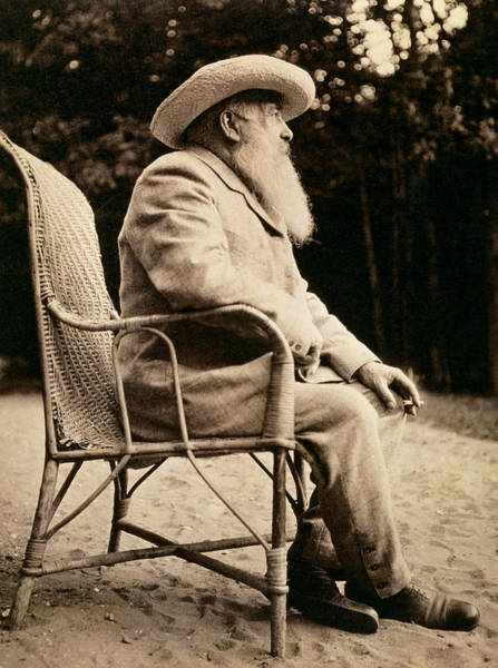 Giverny Photograph - Claude Monet In His Garden by French School