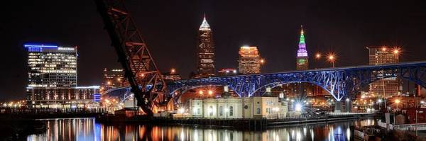 Playhouse Photograph - Cleveland Panorama by Frozen in Time Fine Art Photography