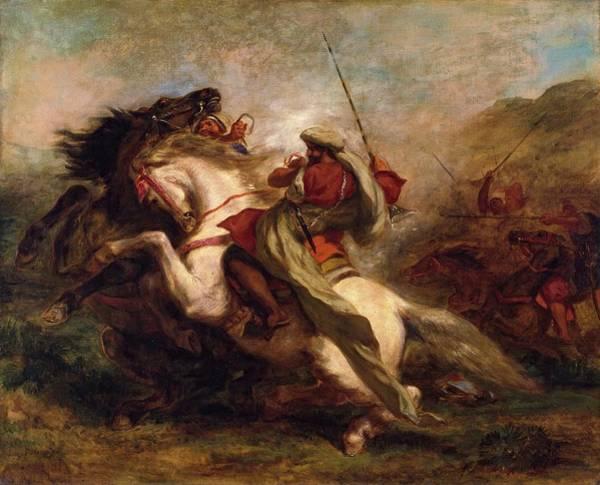 Painting - Collision Of Moorish Horsemen by Eugene Delacroix