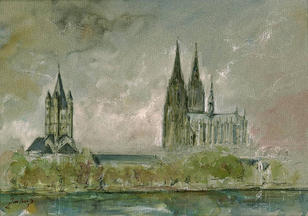 Wall Art - Painting - Cologne Cathedral by Juan  Bosco
