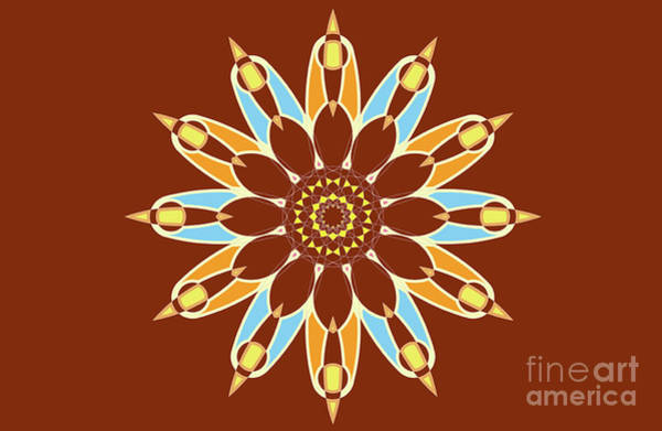 Classroom Digital Art - Colorful Abstract Star On Brown Background by Drawspots Illustrations