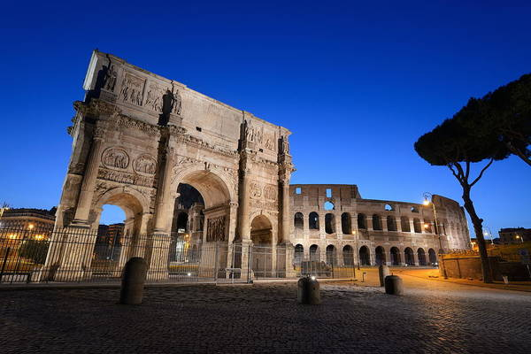 Photograph - Colosseum Rome Night by Songquan Deng