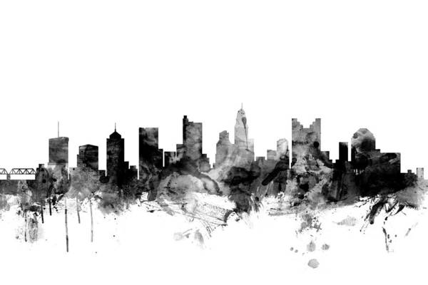 Columbus Wall Art - Digital Art - Columbus Ohio Skyline by Michael Tompsett