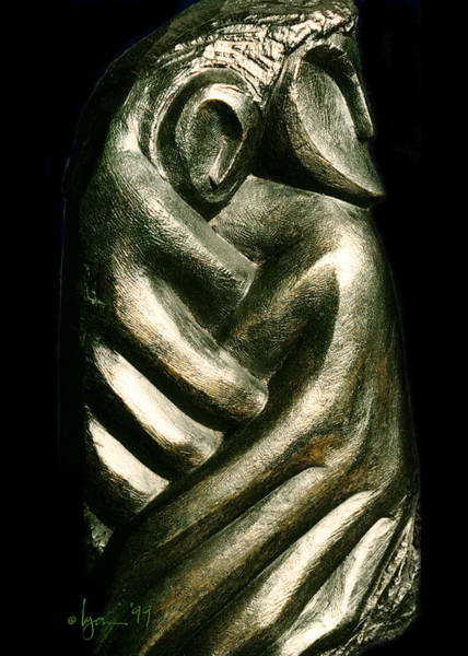 Sculpture - Comfort by Angela Treat Lyon