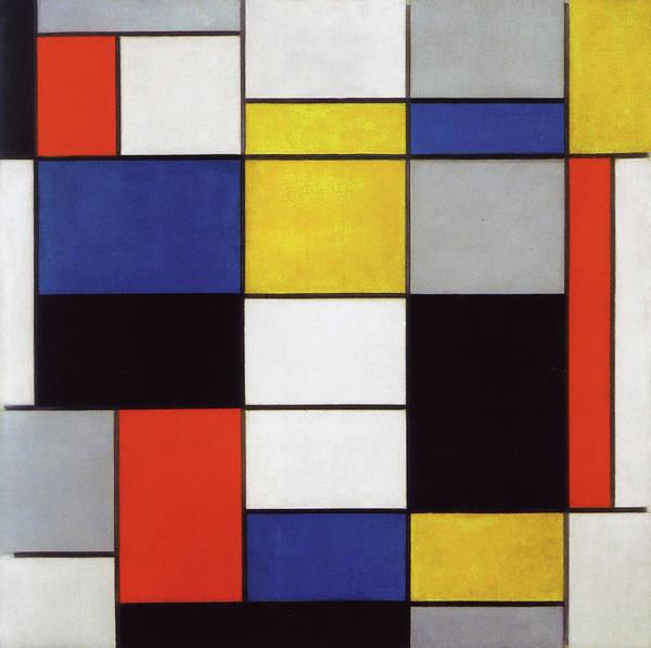 De Stijl Painting - Composition A by Piet Mondrian