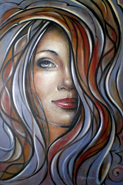 Cool Blue Smile 070709 Art Print