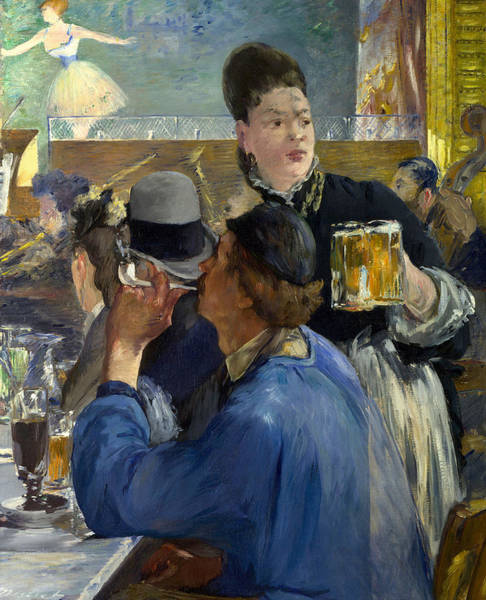 Brasserie Wall Art - Painting - Corner Of A Cafe Concert by Edouard Manet