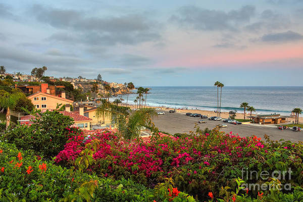 Photograph - Corona Del Mar At Dusk by Eddie Yerkish