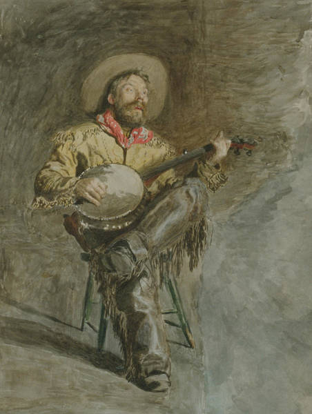 Drawing - Cowboy Singing by Thomas Eakins