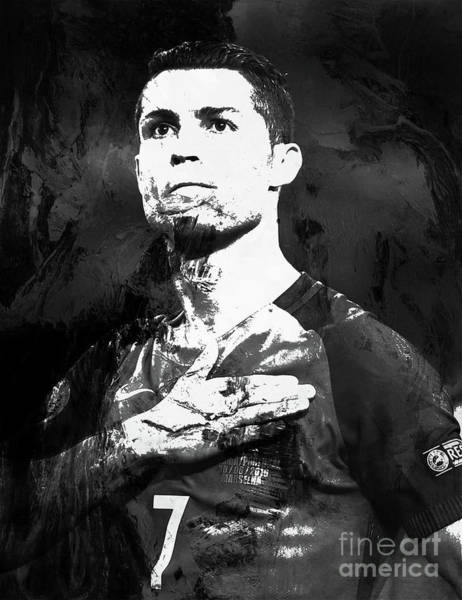 Manchester United Fc Wall Art - Painting - Cristiano Ronaldo Oki by Gull G