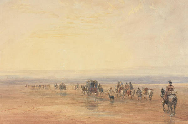 Painting - Crossing Lancaster Sands by David Cox