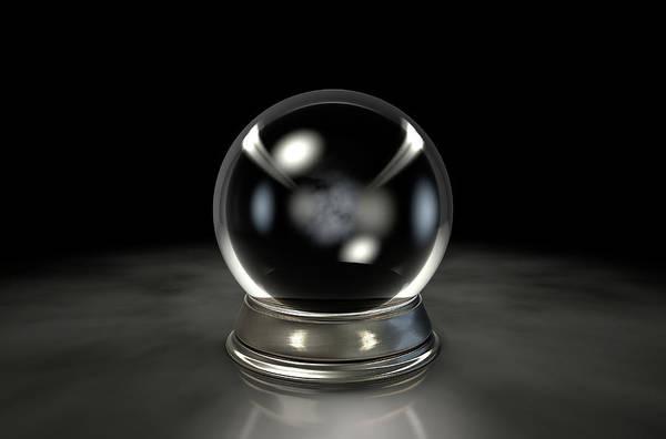Magical Digital Art - Crystal Ball Dark by Allan Swart