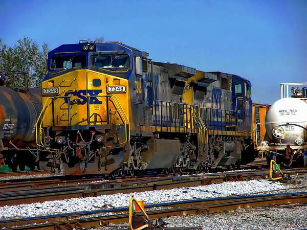Photograph - Csx Train Engine by Anthony Dezenzio