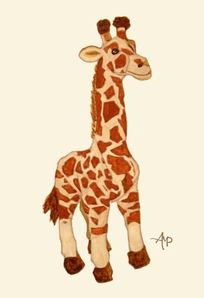 Painting - Cuddly Giraffe by Angeles M Pomata