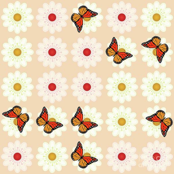 Wall Art - Digital Art - Daisies And Butterflies by Gaspar Avila