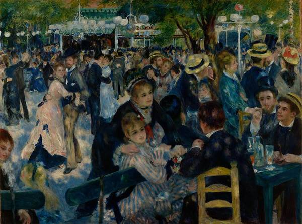 Painting - Dance At Le Moulin De La Galette by Auguste Renoir