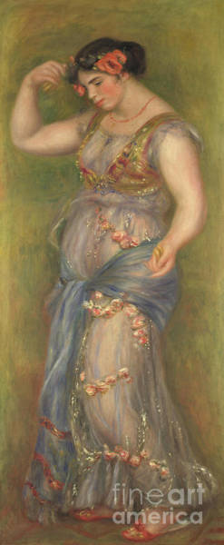 Wall Art - Painting - Dancing Girl With Castanets by Pierre Auguste Renoir