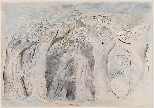 Penetrate Painting - Dante And Virgil Penetrating The Forest by William Blake