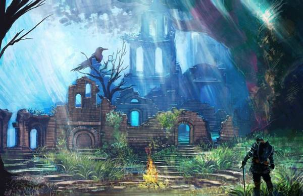 City Digital Art - Dark Souls by Super Lovely
