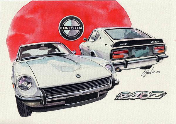 Wall Art - Painting - Datsun 240z by Yoshiharu Miyakawa