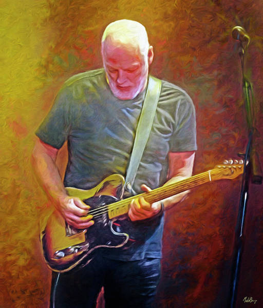 Wall Art - Mixed Media - David Gilmour, Pink Floyd by Mal Bray