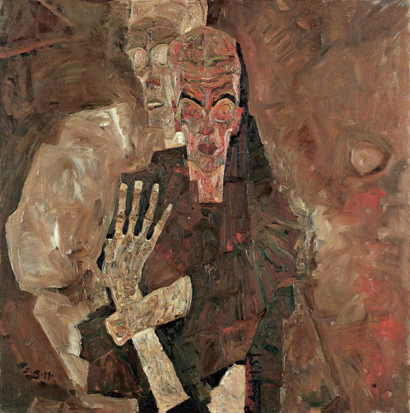 Wall Art - Painting - Death And Man by Egon Schiele
