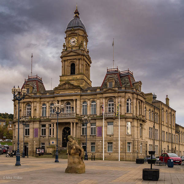 Wall Art - Photograph - Dewsbury Town Hall by Mike Walker