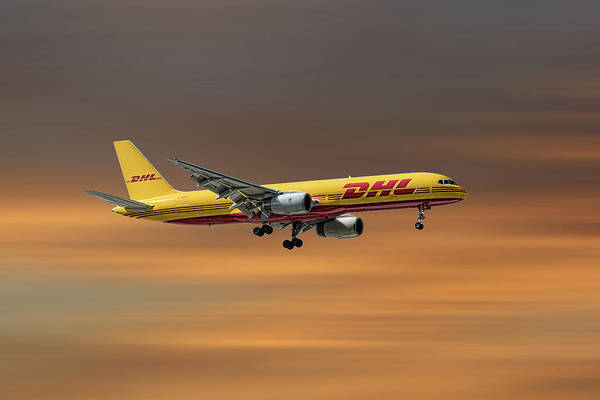 Boeing Mixed Media - Dhl Boeing 757-236 Pcf by Smart Aviation