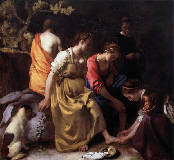 Painting - Diana And Her Companions by Johannes Vermeer