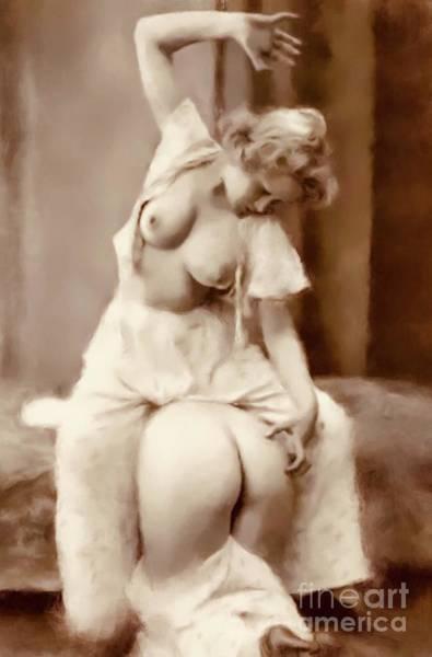 Satan Digital Art - Digital Vintage Pinup Painting by Frank Falcon