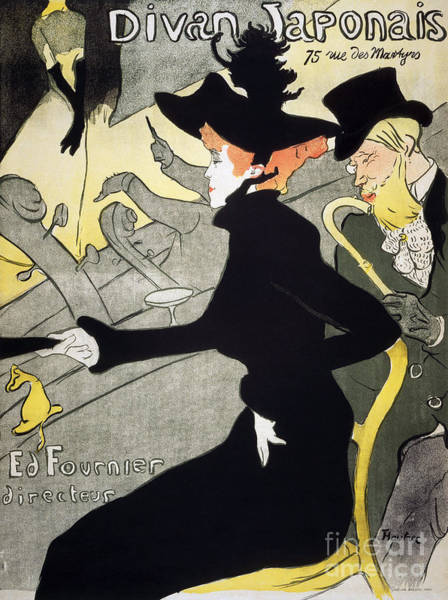 Drawing - Divan Japonais by Toulouse-lautrec