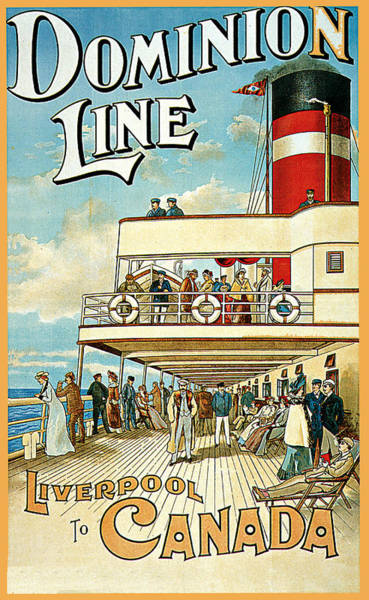 Painting - Dominion Line by William Cossens