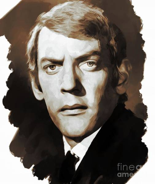 Wall Art - Painting - Donald Sutherland, Actor by Mary Bassett