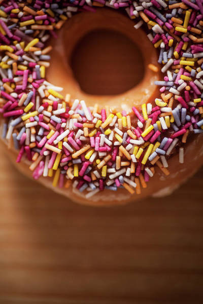 Glazed Wall Art - Photograph - Donut And Sprinkles by Samuel Whitton