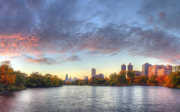 Lincoln Photograph - Downtown Chicago From Lincoln Park by Twenty Two North Photography