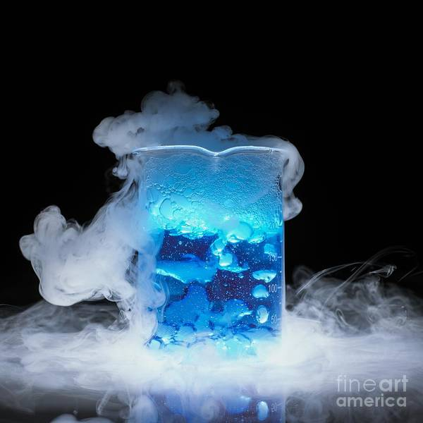Photograph - Dry Ice Vaporizing by Spl